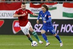 Ungarn gegen die Niederlande Internationales freundliches Fußballspiel Kroatiens Stockbild