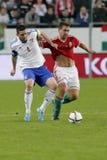 Ungarn gegen die Niederlande Matc 2016 Fußball der Färöer UEFA-Euronäheren bestimmung Lizenzfreies Stockfoto