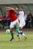 Ungarn gegen Fußballspiel der Tschechischen Republik Stockbilder