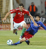 Ungarn gegen Liechtenstein (5: 0) Stockbild