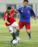 Ungarn gegen Liechtenstein (5: 0) Stockbilder