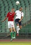 Ungarn gegen Norwegen (0: 2) freundliches Fußballspiel Lizenzfreie Stockbilder