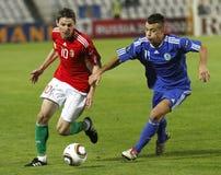 Ungarn gegen San Marino 8-0 Stockbild