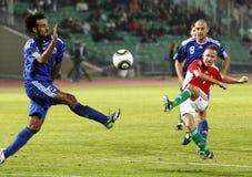 Ungarn gegen San Marino 8-0 Stockbilder