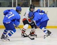 Ungarn - Italien unter icehockey 16 Spiel Lizenzfreie Stockfotografie