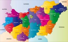 Ungarn-Karte stockbilder