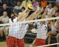 Ungarn-- Lettland-Volleyballspiel Stockfoto
