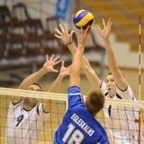 Ungarn-- Lettland-Volleyballspiel Lizenzfreie Stockbilder