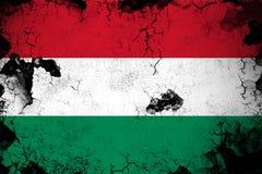 Ungarn rostig und Schmutzflaggenillustration stock abbildung