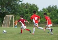 Ungars fotboll Fotografering för Bildbyråer