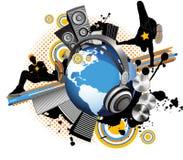 ungdom för musik för män för stadsdansjordklot Royaltyfria Foton