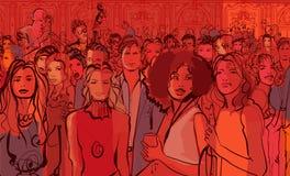 Ungdomari en nattklubb stock illustrationer