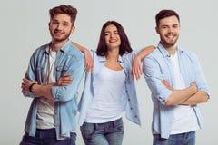 Ungdomari jeans Arkivfoto