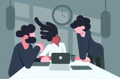 Ungdomarsom talar på arbetsplatsen royaltyfri illustrationer