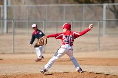 Barnserien i basebollkanna Arkivbild