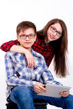 Ungdomen ser till framtiden Royaltyfri Foto