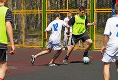 Ungdomfotbollgård Royaltyfria Bilder