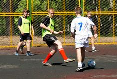 Ungdomfotbollgård Royaltyfri Fotografi