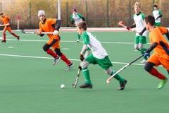 Ungdomlandhockeykonkurrens Arkivbilder