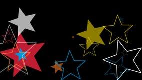 Ungeövergångsstjärnor stock video