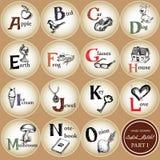 Unge alphabet-1 stock illustrationer