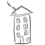 Unge dra av ett hus Arkivbilder