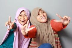 Unge för två ung muslim arkivfoton
