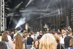 Unge Francescoli för konsertfestivalmusik Arkivbilder