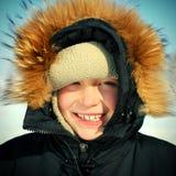Unge i vinter Royaltyfri Fotografi