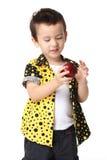 Unge med äpplet Royaltyfri Fotografi