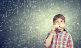 Unge med mustaschen Fotografering för Bildbyråer