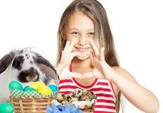 Unge och easter kanin Arkivfoto
