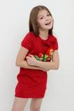 Unge och matrioshka Royaltyfria Bilder