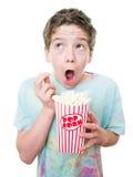 Unge på filmerna arkivbilder