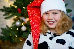 Unge som firar jul Royaltyfria Foton