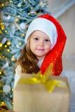 Unge som firar jul Arkivfoto