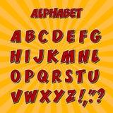 Ungealfabet eller stilsort 3d med bokstäver Arkivfoto