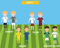 Ungebarn i hem och bort ärmlös tröjalikformig i Frankrike EURO 201 Arkivfoto