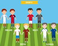 Ungebarn i hem och bort ärmlös tröjalikformig i Frankrike EURO 201 Royaltyfria Bilder