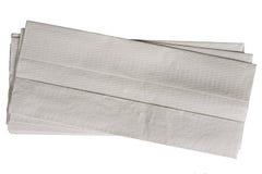 Ungebleichte Papiertücher, getrennt Lizenzfreies Stockbild