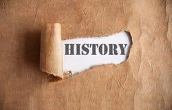 Ungedeckt von Geschichte stockbilder