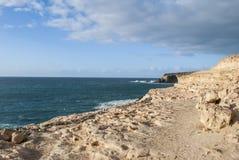 ungefärlig kustlinje Arkivbild