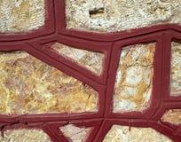 ungefärlig stenvägg Arkivbilder