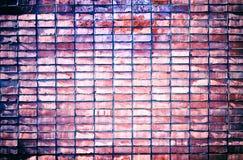 ungefärlig vägg för bakgrundstegelstengrunge Arkivbilder