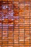 ungefärlig vägg för bakgrundstegelstengrunge Arkivbild