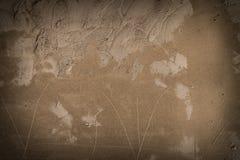 ungefärlig vägg för cement Arkivbilder
