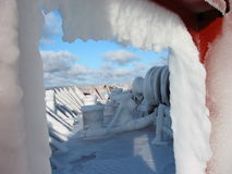ungefärligt väder för is Arkivfoton