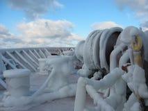 ungefärligt väder för is Royaltyfria Bilder