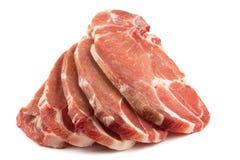 Ungekochte Schweinekoteletts lizenzfreie stockfotos