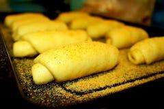 Ungekochtes spanisches Brot zum Frühstück Stockfoto